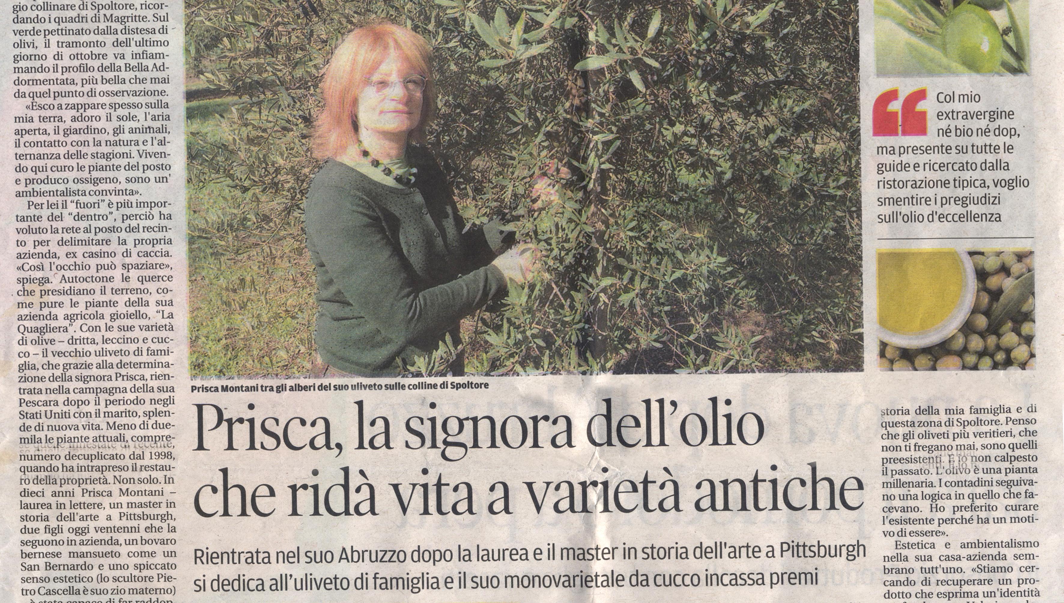 Prisca, la signora dell'olio che ridà vita a varietà antiche